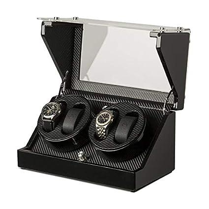 Klarstein CA2PM • Estuche bobinadora para Relojes • Caja para Relojes • 4 Relojes automáticos • 4 Opciones de Movimiento • Rotación Dos direcciones • ...
