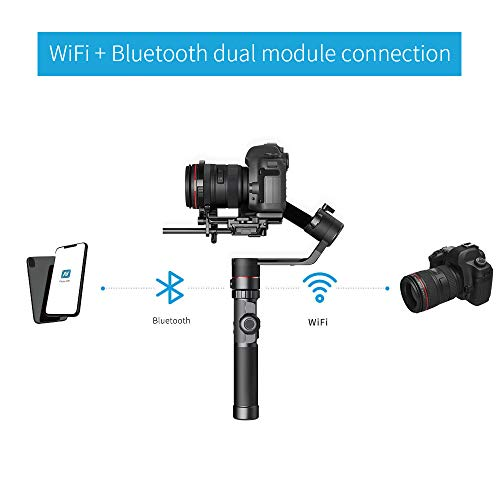 FeiyuTech Feiyu AK2000 DSLR Camera Gimbal 3-Axis Handheld Stabilizer with Tripod for Panasonic GH5 GH5S Sony A7 Canon 5D… 5