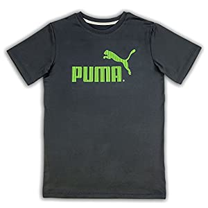 PUMA Boys T-Shirts 4-7 Boys and 8-20 Boys No. 1 Logo Tee Solid Blue White Grey