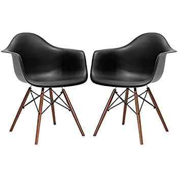 Amazon Com Dhp Mid Century Modern Chair With Molded Arms