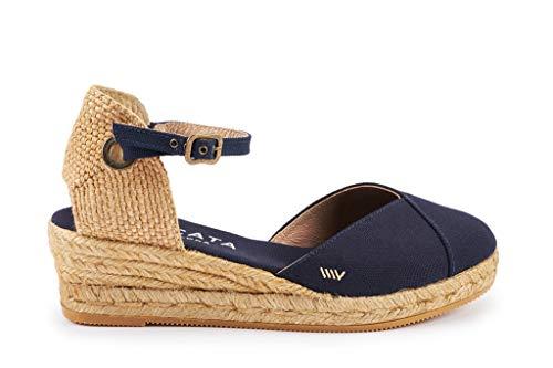 espadrillas Viscata Navy 2 pollici classiche punta con caviglia tacco Pubol Cinturino alla In Blue Made Spain chiusa xwERgWYq