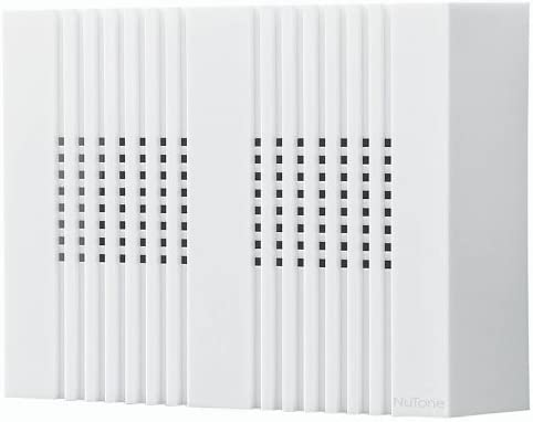 Broan-NuTone NuTone LA18WH Decorative Wired Two-Note Door Chime with Vertical Panels White