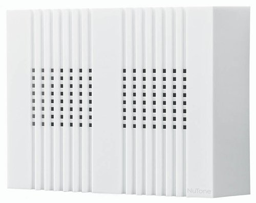 NuTone LA126WH Compact Classic Design Decorative Wired Two-Note Door Chime, White (White Broan Wired Chimes)