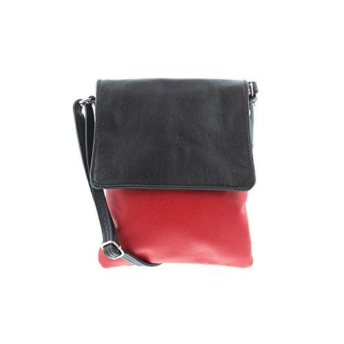 IO.IO.MIO Borsetta per le Icone® - Bolso bandolera Mujer rojo y negro