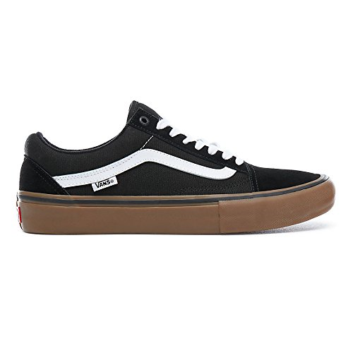 Black Old Skool Pro Vans gum white wtTBwSq