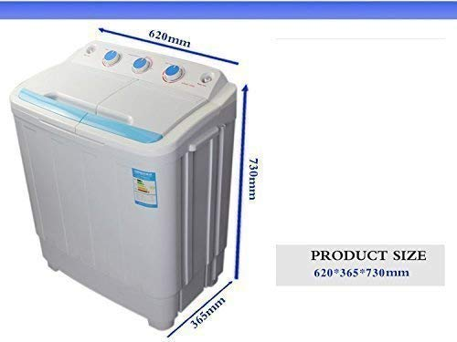 LEISURE DIRECT 230V TWIN PORTABLE WASHING MACHINE FOR STUDENTS + SPIN FUNCTION +...