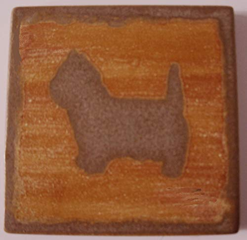 (Westie Coasters Square Set of 4 Tile Ceramic West Highland White Terrier)