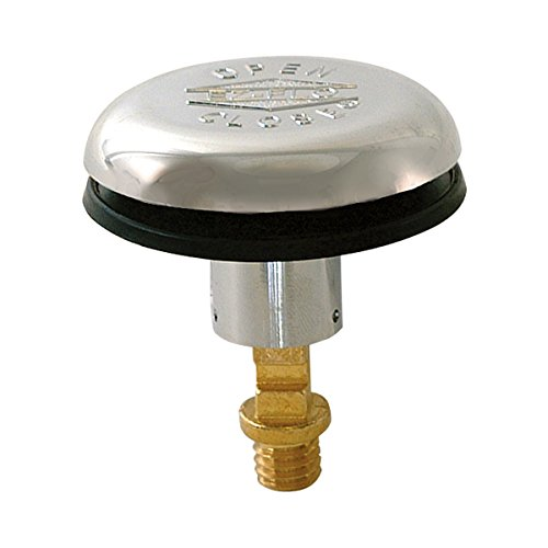 EZ-FLO 35240 Durable ABS Snap and Press Stopper with Rubber Seal, 3/8-inch Thread, Chrome Finish