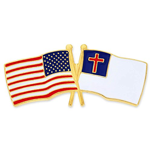 top PinMart's USA and Christian Crossed Friendship Flag Enamel Lapel Pin supplies