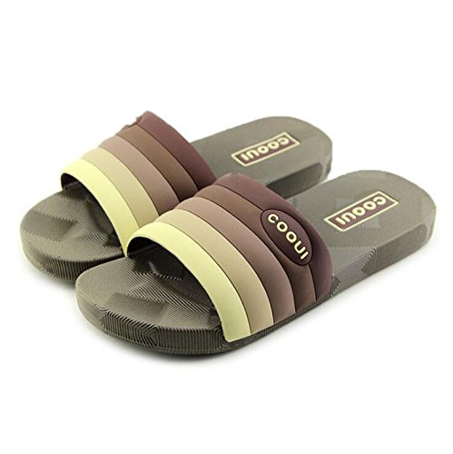 soled Gradient Soft Summer Slippers Sandals blue Couple Color Couple Creative slip 39 Sky 38 SUxian Slippers Non Grey Stripes Size Slippers Bathroom 8Pgxq