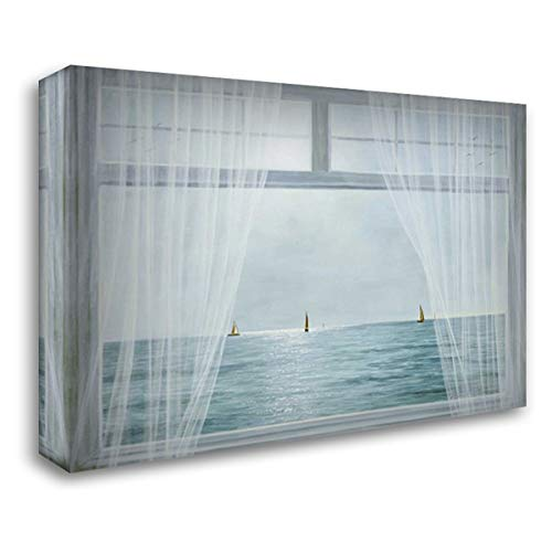 Morning View 40x28 Gallery Wrapped Stretched Canvas Art by Romanello, Diane