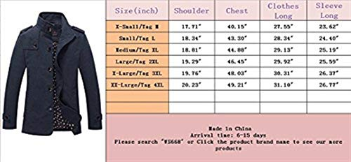 Long Fashion Fit Mens Classic Long Collar Sleeve Casual Huixin Outerwear Jackets Apparel Mens Coat Autumn Vintage Cotton Slim Coats Blau Stand Lightweight Jacket qAHTz