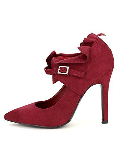 C'm Escarpins Cendriyon Femme Chaussures Froufrou Bordeaux wpqCxqBtv