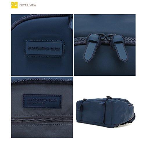 Mandarina Duck Unisex Touch Ente pvt08Casual Rucksack Schule Laptop Tasche Speicherung und Schlüssel Ring grau dark shadow Blau (Insignia Blue) kG3bhsi