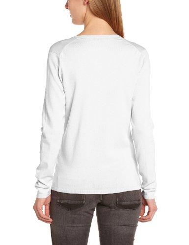 Tommy Hilfiger New Ivy V-Nk Swtr - Jersey con cuello de pico de manga larga para mujer, color blanco (100 classic white), talla 40 (Talla fabricante: L)