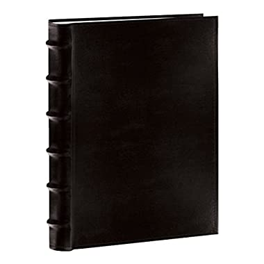 Pioneer Sewn Bonded Leather BookBound Bi-Directional Photo Album, Holds 300 4x6  Photos, 3 Per Page. Color: Black.