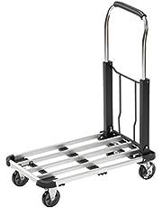 Meister Transportwagen - inklapbaar - tot 150 kg draagkracht - parkeerrem - in hoogte verstelbare handgreep/transporthulp met zwenkwielen/pakketwagen/klapwagen van aluminium / 8985590