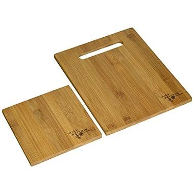 Corde & Compass 3-Piece Bamboo Cutting Board Set