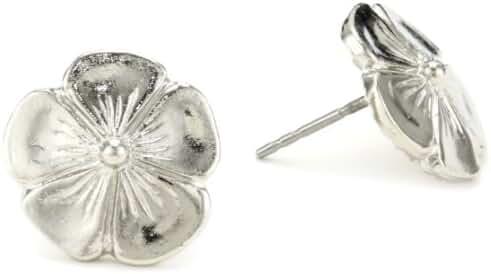1928 Jewelry Silver-tone Flower Stud Earrings