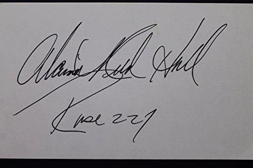 Alaina Reed Hall Caroller Actress Autographed 3x5 Signed Index Card 106