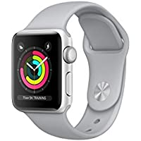Apple Series 3 38mm GPS Aluminum Case Sport Band Smartwatch (Silver)