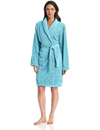 Seven Apparel Hotel Spa Collection Honeycomb Bath Robe, Blue