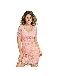 cklass Vestido Corto de Crochet