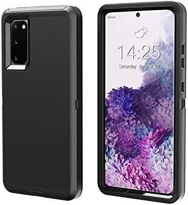 Phone Case Compatible for Samsung GalaxyS20 FE 4G &5G, Heavy Duty [with Kickstand] 【Without Screen Protector】 Tough 4 in1 Rugged Shorkproof Cover for GalaxyS20 FE (Black, 6.5)