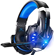 BENGOO G9000 Stereo Gaming Headset for PS4 PC Xbox One PS5 Controller, Noise Cancelling Over Ear Headphones wi
