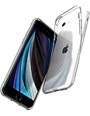 SPIGEN [Liquid Crystal] iPhone SE 2020 Case Cover/iPhone 8 Case/iPhone 7 Case with Clear and Flexible TPU Compatible with iPhone SE (2020) / iPhone 8 / iPhone 7 - Crystal Clear