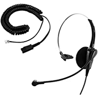 Cisco 8811, 8841, 8851 Phone Headset and Adapter - Call Center Noice cancelling Economic Monaural headset + Headset Adapter