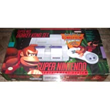 Super Nintendo SNES System - Video Game Console - Donkey Kong Bundle