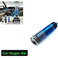 Zinnor Car Air Oxygen Bar Purifier,Lonizer, Air Cleaner, Lonic Air Purifier, Car Air Freshener | Removers Cigarettes Smoke, Smell and Bad Odors- Silver