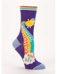 Blue Q Shitting Rainbows Kind Of Day Women's Crew Sock
