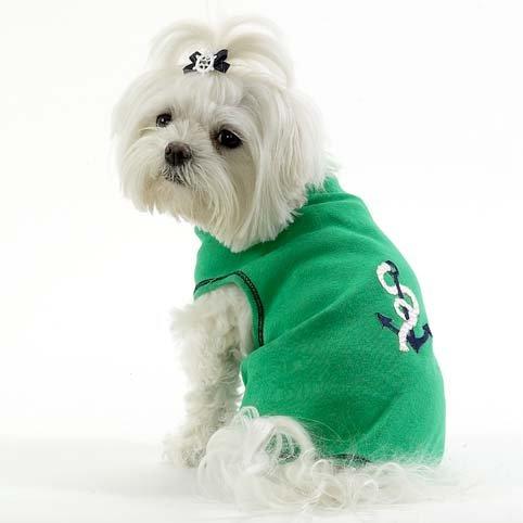 Anchor Dog T Shirt Size Large (14 -16 )
