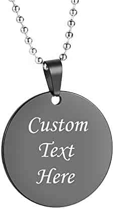 af086198c1 GAGAFEEL Personalized Custom Message Necklace Friends Family Lover Pet Dog  ID Tag DIY Pendant Love Gift