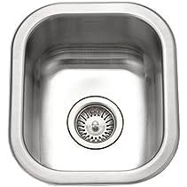 Houzer CS-1307-1 Club Series Undermount Small Bar/ Prep Sink
