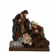 "14.5"" The Adoring Holy Family Religious Nativity Scene Christmas Figurine"