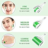 Derma Roller Green, 0.25mm Microneedle Roller for