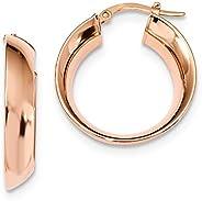 14k Rose Circle Hoop Earrings Ear Hoops Set Fine Jewelry For Women Gifts For Her