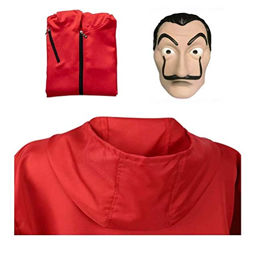 Money Heist Dali Mask Costume - La Casa De Papel Halloween Party Cosplay Paper House Salvador for Men Women Adult Unisex