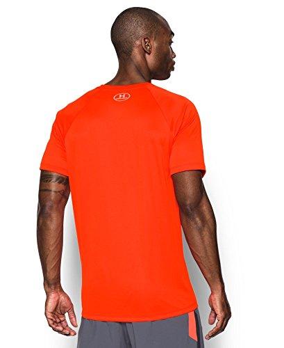 Under Armour Men's HeatGear Run Short Sleeve T-Shirt X-Large Phoenix FIRE by Under Armour (Image #1)