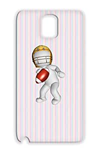 Football Sports Helmet Football Ball Player TPU Silver For Sumsang Galaxy Note 3 Player With Protective Hard Case
