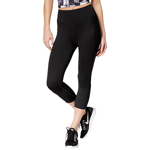 Ideology Womens Slimming Cropped Athletic Leggings Black M from Ideology