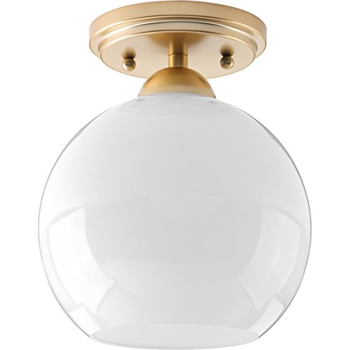 - Progress Lighting P350075-078 Carisa Flush Mount, Vintage Gold