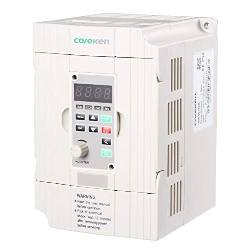 Litorange Vector Control VFD 1 Single Phase 220V 1.5KW 2HP Variable Frequency Drive CNC VFD Motor Drive Inverter Converter for Spindle Motor Speed Control General Purpose. ()