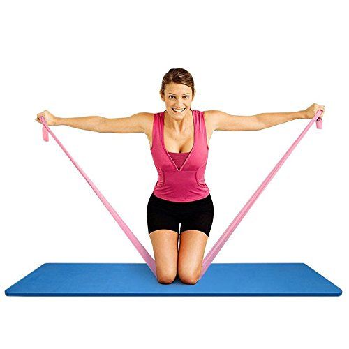 TORUBIA Exercise Resistance Bands Stretching Yoga Bands 5ft Perfect For Home and Outdoor Training Exercise Stretch For Tone Legs Ankle Arms Thigh Gym Pilates Physical Therapy Warm Up Activities (2PC )