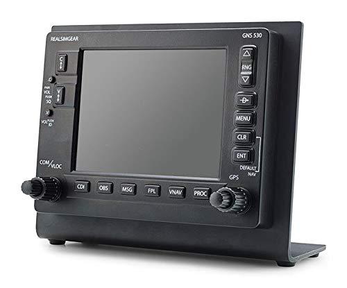 Desktop Stand for RealSimGear GNS530 Bezel | 3mm Steel Matte Black Finish