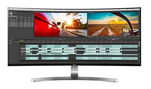 LG 34UC98-W 86,4 cm (34 Zoll) Computer-Monitor (HDMI, Thunderbolt 2, USB 3.0, Display Port, 5 ms Reaktionszeit, ergonomischer Neigefuß mit Höhenverstellung, Curved Ultra Wide QHD) Weiß