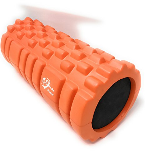 We The Planet Grid Textured Fitness Foam Roller for Muscles and Physical Therapy - Orange -  Ludwig Enterprises, LLC